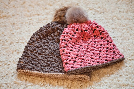 Crochet Hat Pattern Double Layer Hat Cowl Sizes Baby Etsy
