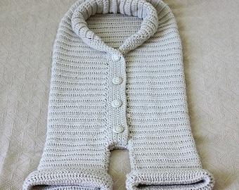 Crochet PATTERN - Knit-look Baby Bunting