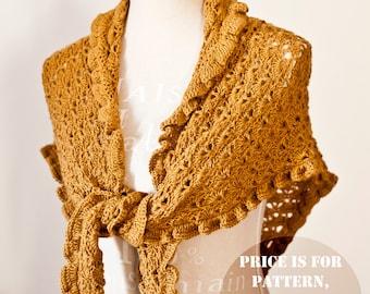 Crochet PATTERN - Ruffle Shawl