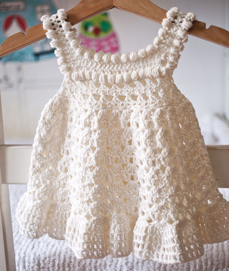 Crochet dress PATTERN  Florie dress sizes up to 10 years image 0