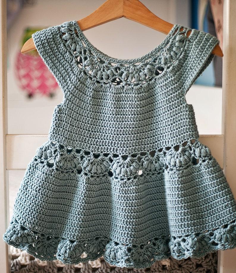 Crochet dress PATTERN  Magnolia Dress sizes up to 8 years image 0