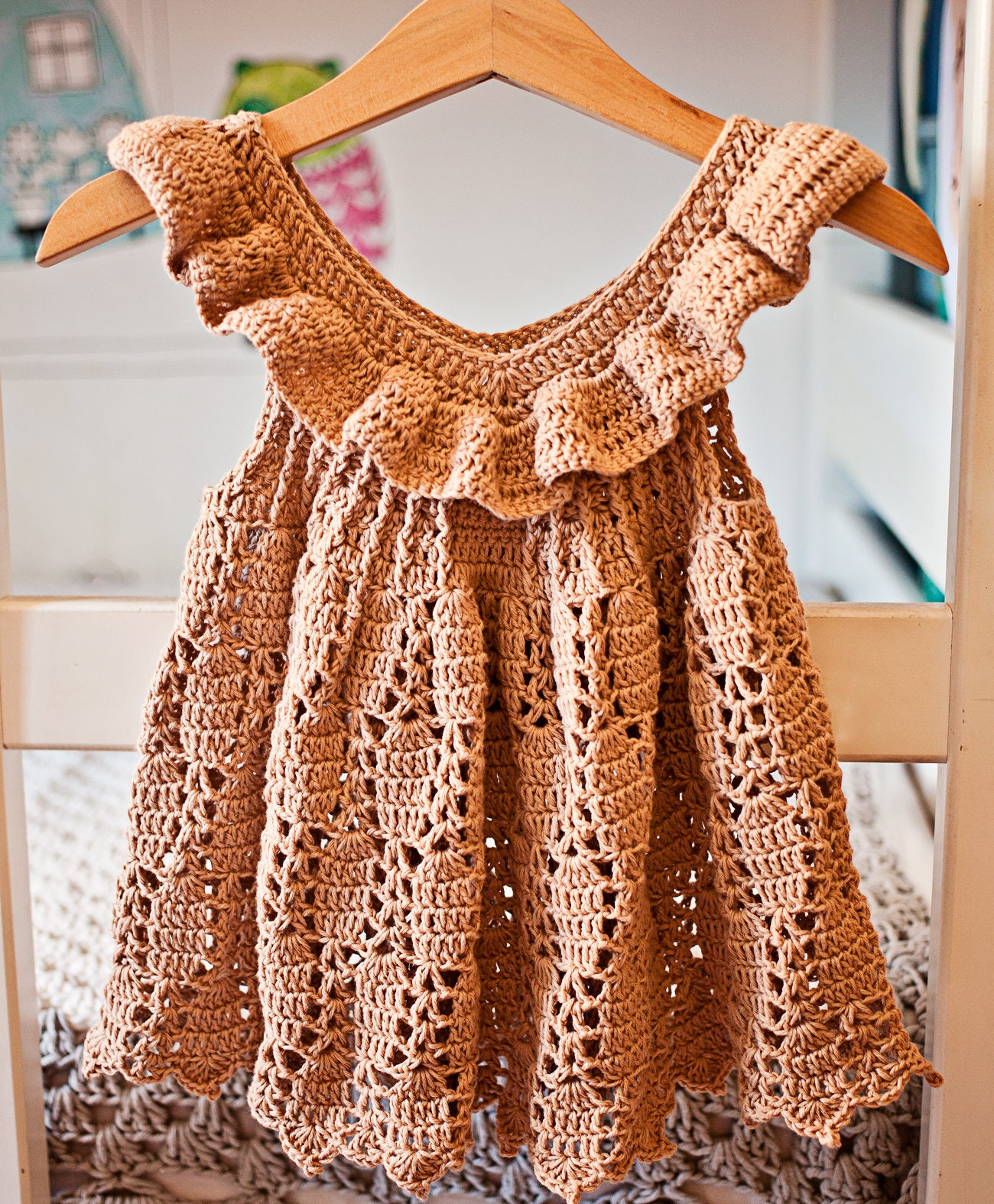 Crochet Dress Pattern Truffle Ruffle Dress Sizes Up To 10 Etsy
