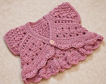 Crochet PATTERN - Butterfly Shrug - Cardigan (sizes baby up to 6 years) (English only)