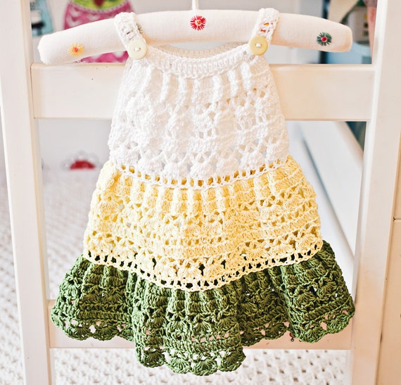 Crochet dress PATTERN   Crochet Tiered Dress baby toddler