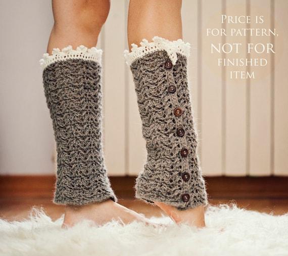 Crochet PATTERN - Luxury Leg Warmers from monpetitviolon on Etsy Studio