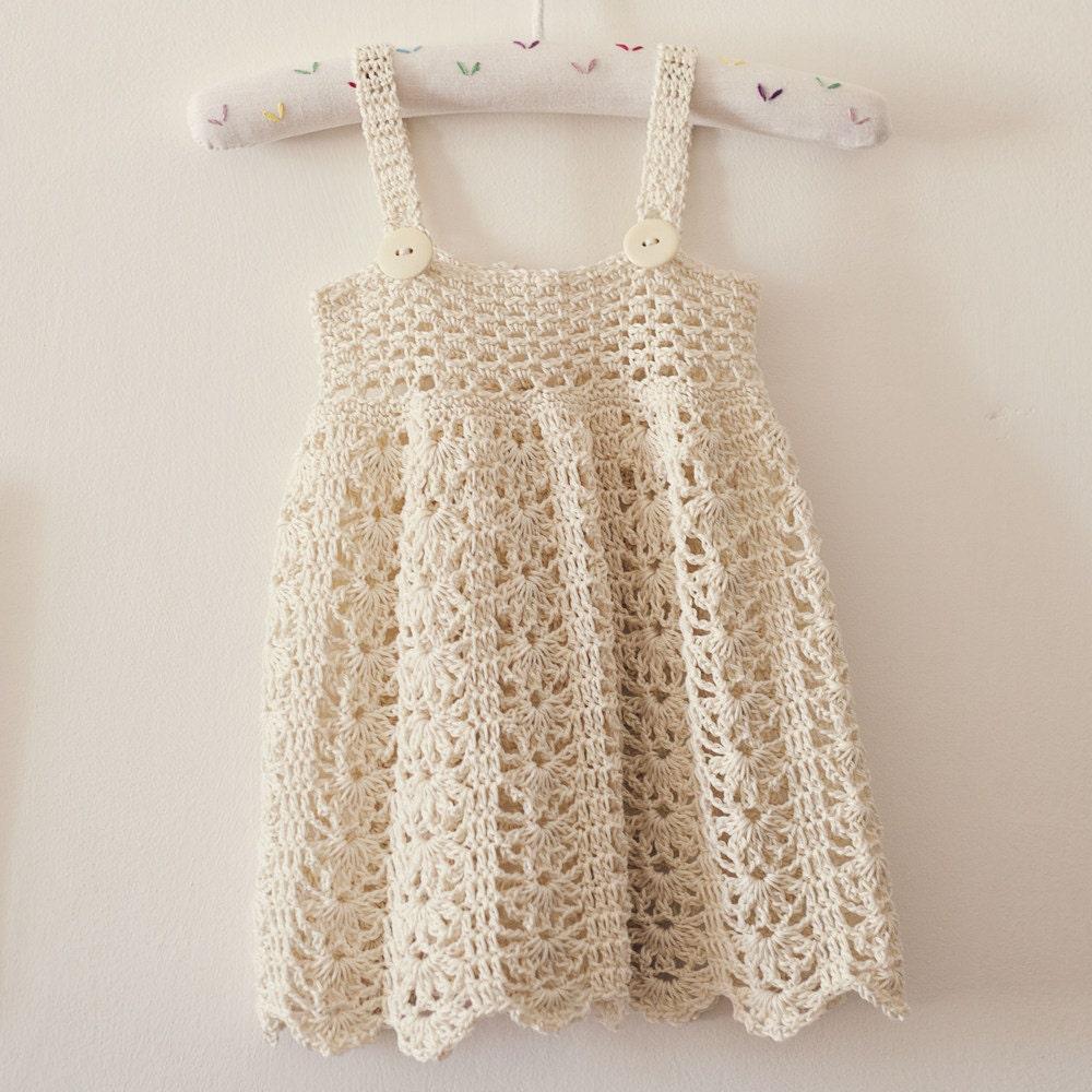 Crochet Dress Pattern Sarafan Dress Sizes Up To 5 Years Etsy