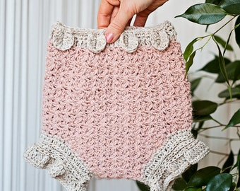 Crochet PATTERN - Petal Diaper Cover (sizes from newborn up to 2years) (English only)