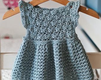 Crochet dress PATTERN - Chloe Dress (sizes up to 8 years) (English only)