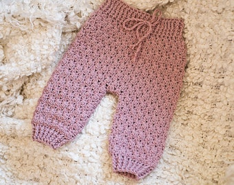 Crochet PATTERN  - High Waist Baby Trousers (English only)