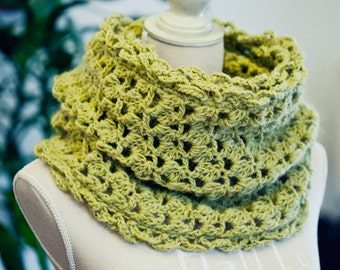 Crochet PATTERN - Olive Cowl (English only)