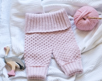 Crochet PATTERN  - Knit-look Trousers (English only)