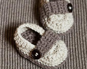 Crochet PATTERN - Baby Loafers