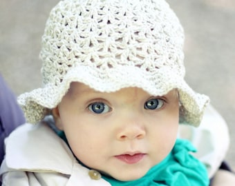 Crochet hat PATTERN  - Summer Sun Hat (baby to adult) (English only)