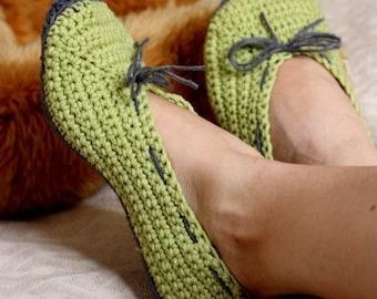 Crochet PATTERN  - Ladies Ballet Flats