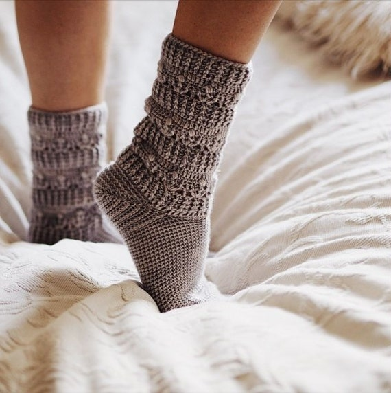 Crochet Pattern For Socks Pearl Socks Etsy