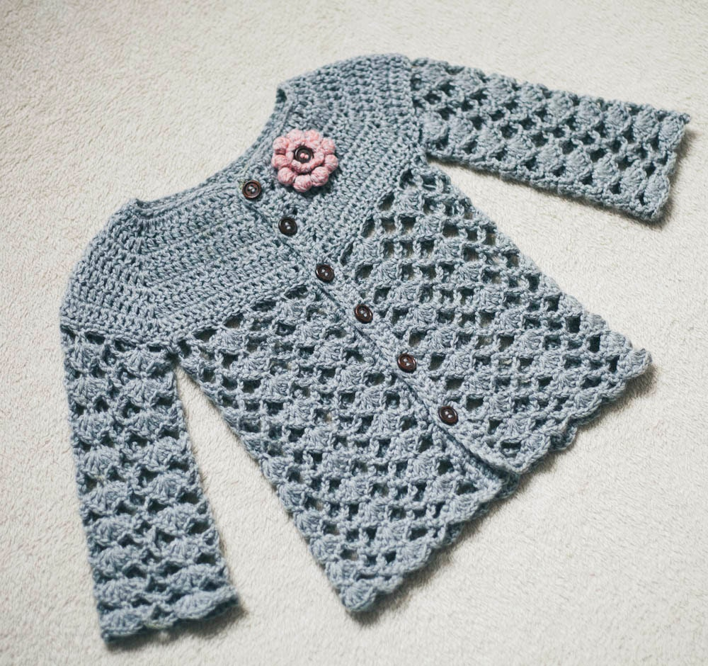 Crochet Cardigan Pattern Sweet Little Cardigan Sizes Etsy