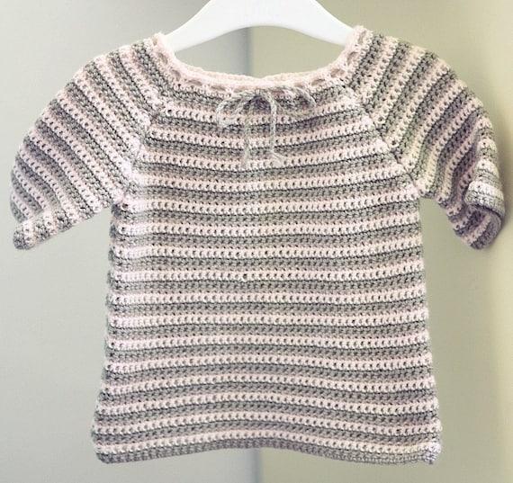 Crochet Pattern Raglan Baby Sweater Etsy