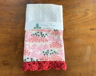 Flowers in the Fields Crochet Kitchen Bar Mop Towel