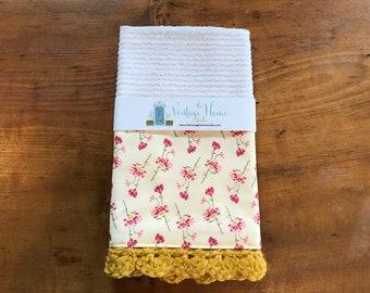 Summer Posies Crochet Kitchen Bar Mop Towel