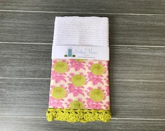 Sunkissed Flower Crochet Kitchen Bar Mop Towel