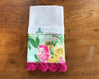 Spring Bouquet Crochet Kitchen Bar Mop Towel
