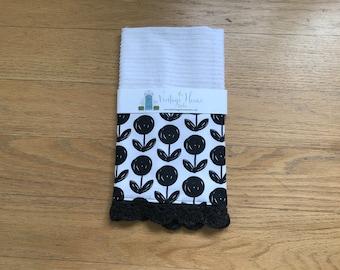Magnolia Inspired Flower Crochet Kitchen Bar Mop Towel