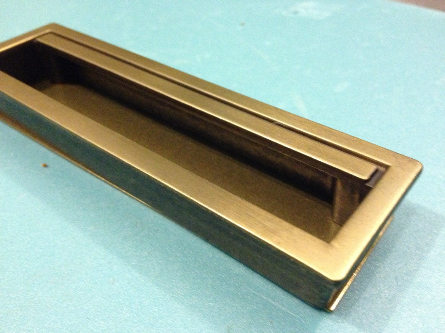 1 Recessed Drawer Pull, Mid Century Style Drawer Pull,Cabinet ...
