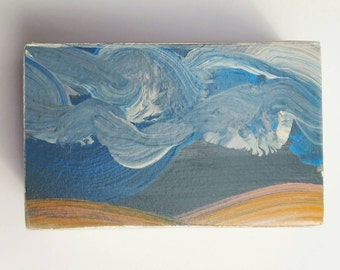 palouse two - original wood block sky painting