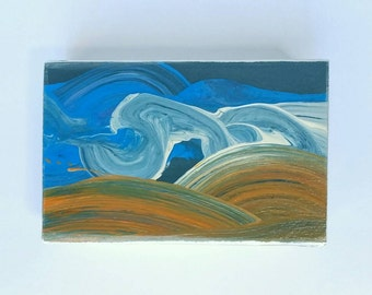 palouse one - original wood block sky painting