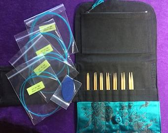 Hiyahiya Interchangeable Bamboo Knitting Needle Set