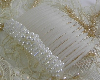 Handmade Pearl Cluster Bridal Comb