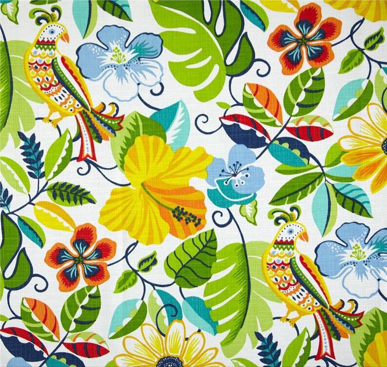 Bright Floral Shower Curtain Island Bathroom Decor