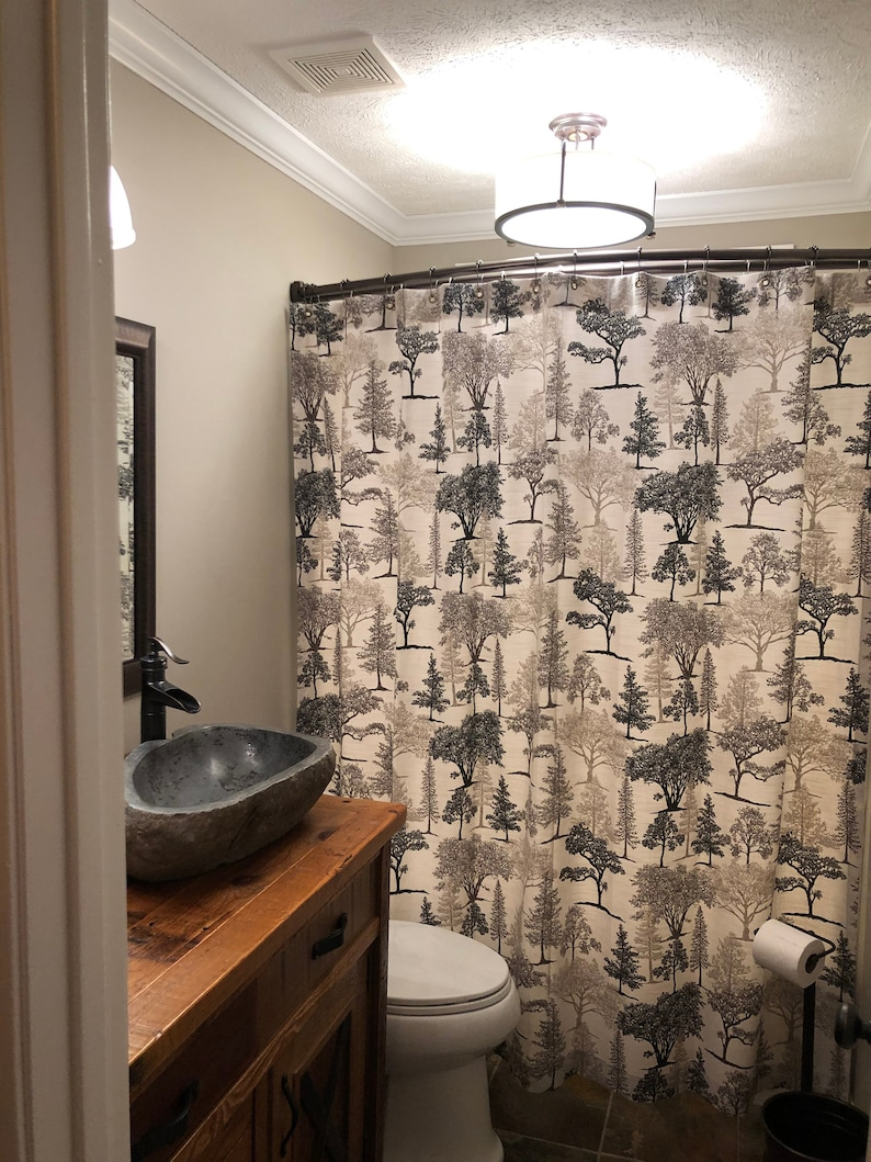 Rustic Shower Curtain Cabin Decor