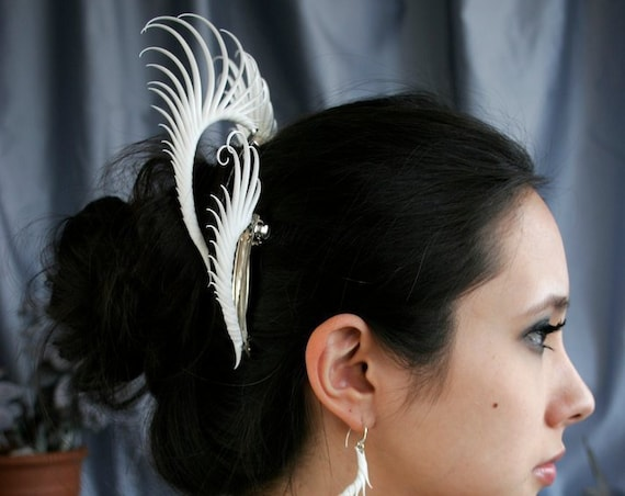 Arched Plume Barrette