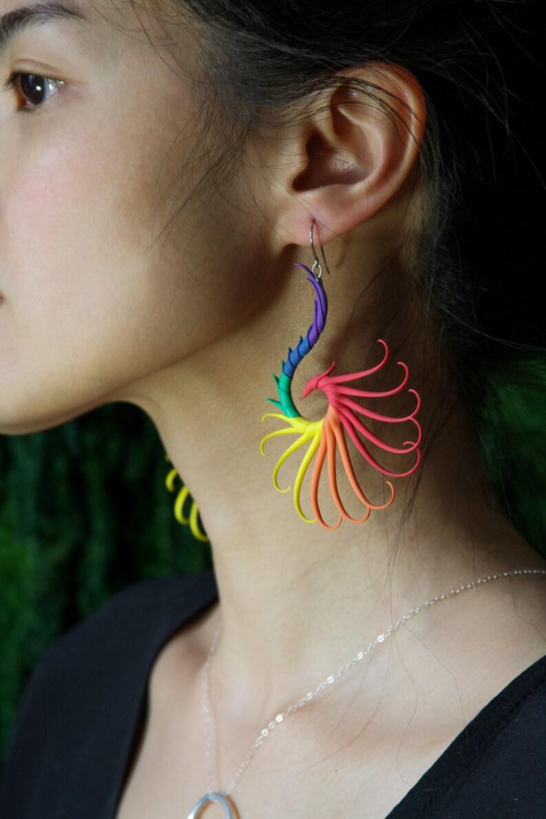 Rainbow Large Swoop Earrings image 0