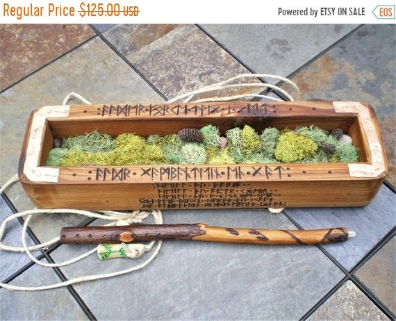 Holiday Sale Alder Wood Gandr Wand And Cedar Wood Case With Etsy