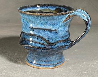 Drippy Slip Goblet Mug - Floating Blue