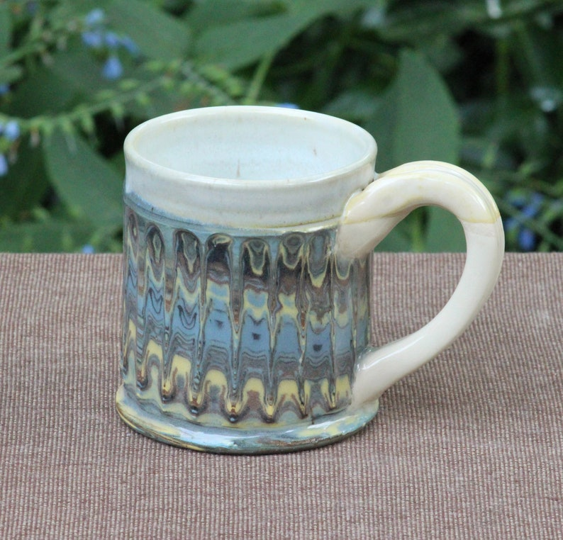 Swirled Faceted Mugs image 1