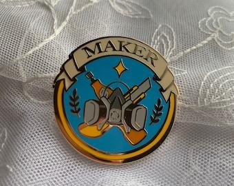 MAKER Enamel Pin Badge of Honor // Foam Smith, Armor, cosplayer, costumer
