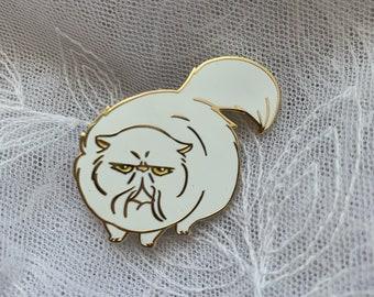Persian Cat enamel pin // cute, funny, animal, fluffy