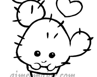 Cute Colouring Page Etsy Uk