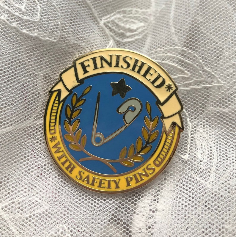 Crafting Costume Finished With Safety Pins Enamel Pin Badge of Honor  Cosplay