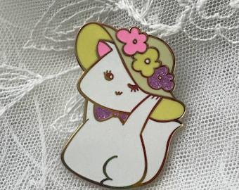 Fancy Hat Cat Pin Hard Enamel Pin