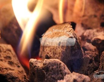 Flaming Lava Rocks