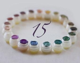 Solid Perfume Sample Set of Fifteen, Mind body spirit, Adventure Scent pack, Portable zen kit, Natural botanical perfume samples, Nature