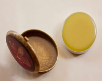 Solid Natural Perfume Compact REFILL - Poured for you, to restock your romantic case with handmade plant fragrance