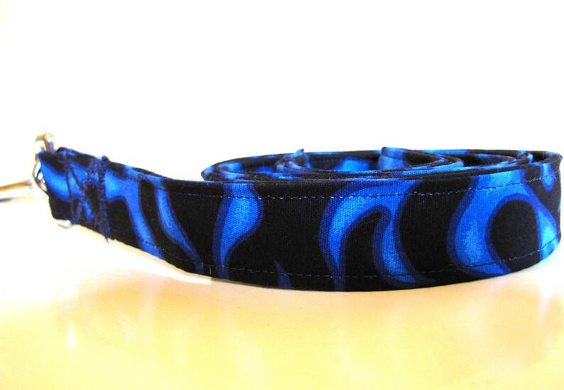 Blue Fire Dog Collar and Leash Set SALE Size M