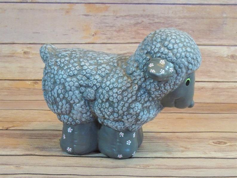 Hand Painted Ceramic Black Sheep