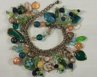 Vintage Hoop Earrings with Pearls OJE-127