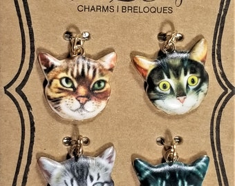 C-128; Four Photo Realistic Colorful Kitty Faces